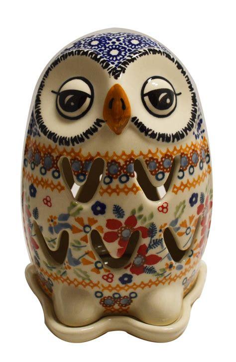 illuminated owl  world polish pottery