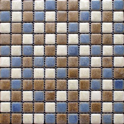 porcelain mosaic floor tiles pattern multi colored shower