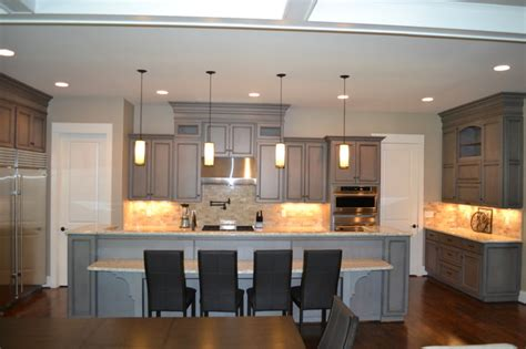 gray stained kitchen cabinets gray stained cabinets with black glaze richmond by