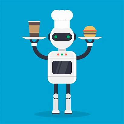 Illustration Robotic Cook Modern Vector Clipart Mechanism