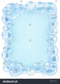 Bath Soap Bubbles Border Clip Art