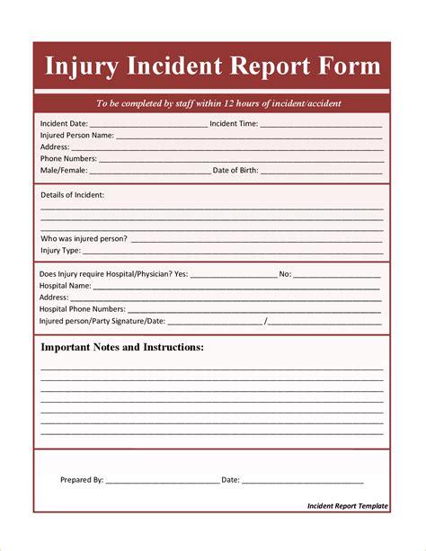 Incident Report Template Incident Report Template Microsoft Word