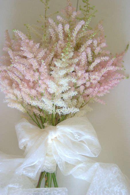 soft pretty astilbe wedding bouquet  wwwblushrosecouk