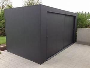 Gerätehaus Metall Flachdach : alu gartenhaus ger tehaus my blog ~ Michelbontemps.com Haus und Dekorationen
