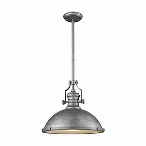 Titan lighting chadwick light weathered zinc with