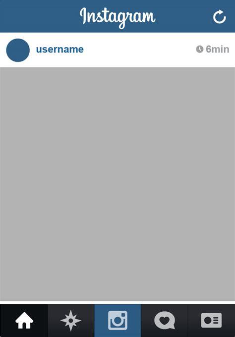instagram template instagram app complete vector ui