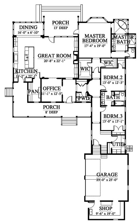 House Plan 73927 Country Southern Style Plan with 3100