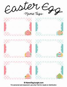 printable easter egg name tags With easter name tags template