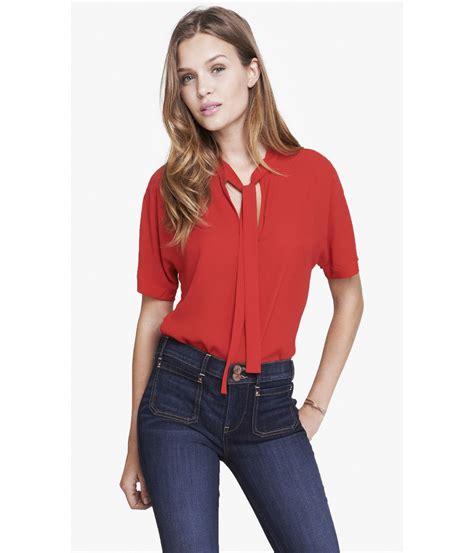 tie blouse sleeve tie front blouse silk blouses