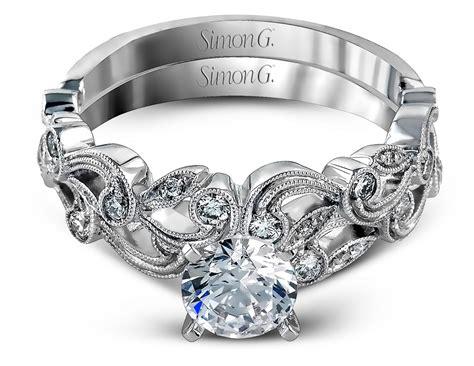 Simon G  Floral Milgrain Engagement Ring  Tr473  Arden. Austin Watches. Blue Bangle Bracelet. Palm Rings. 18k Gold Ankle Bracelet. Elephant Jewelry Bracelet. Royal Rings. 24 Karat Gold Anklet. Gold Engagement Rings For Women