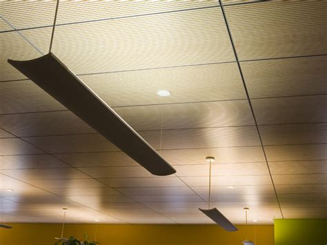 sound absorbing radiant ceiling tiles climacustic by patt