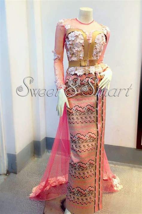 images  myanmar dress design  pinterest