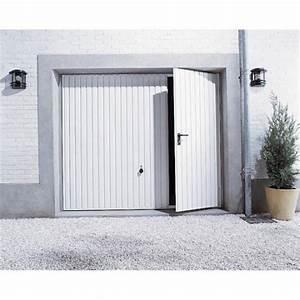 porte de garage basculante manuelle h200 x l240 cm avec With porte de garage basculante avec portillon pour dimension porte entrée