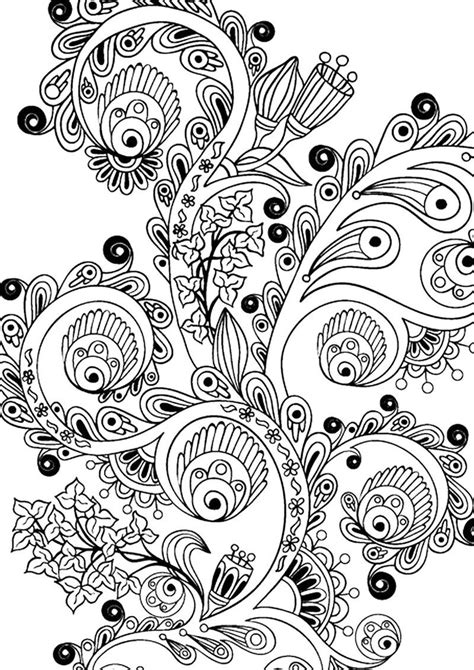Printable Flower Design For Adult Coloring See the
