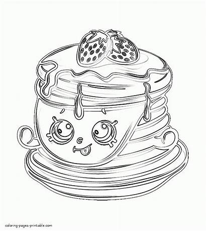 Coloring Shopkins Pages Pancakes Berry Printable Sweet