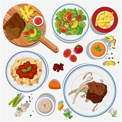 Types Different Plates Vector Illustration Graphics Clipart