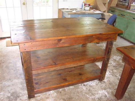 custom kitchen island table primitivefolks rustic pine farm tables country harvest