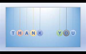 Animated thank you ppt template with floating letters ...
