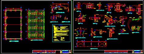 metallic open shed dwg detail  autocad designs cad
