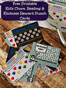 chore punch card template free printable kid 39 s chore reading kindness reward