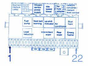 Volkswagen Scirocco 1984 Fuse Box  Block Circuit Breaker