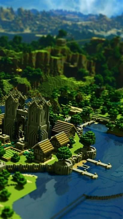 Minecraft Iphone Wallpapers Background Desktop Landscape Backgrounds