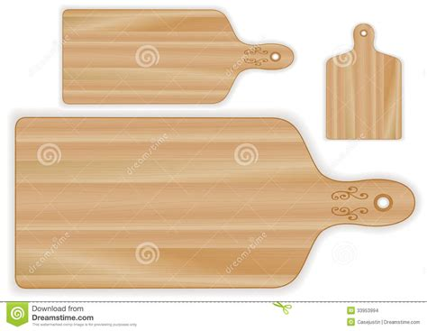butcher block cutting board plans wood cutting boards paddle shapes stock vector