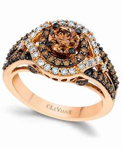 le vian chocolate and white diamond engagement ring in 14k With chocolate wedding ring