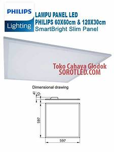 Lampu Panel Led 60x60 Cm Merk Philips Rc091v