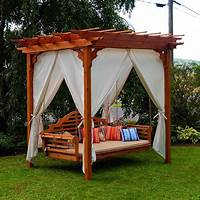 free standing swing Dream For Free Standing Porch Swing — Bistrodre Porch and Landscape Ideas