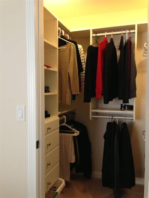 small space storage solutions transitional closet