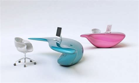 Workstation Chairs, Futuristic Office Desk Contemporary