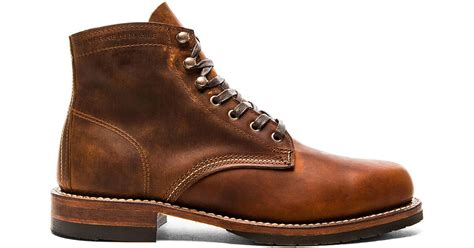 Evans Boots : Wolverine 1000 Mile Evans In Brown For Men
