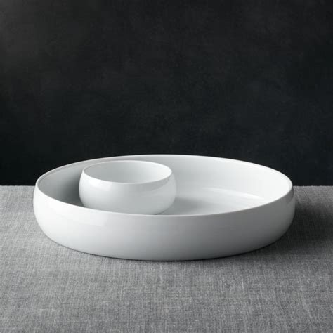 classic white chip  dip set reviews crate  barrel