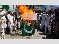 Protesters Burn Pakistani Flags Over Rigged Elections In PoK