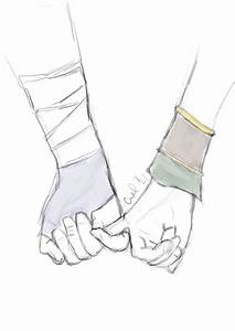 Holding Hands ~ Toph and Sokka by Calillil on DeviantArt