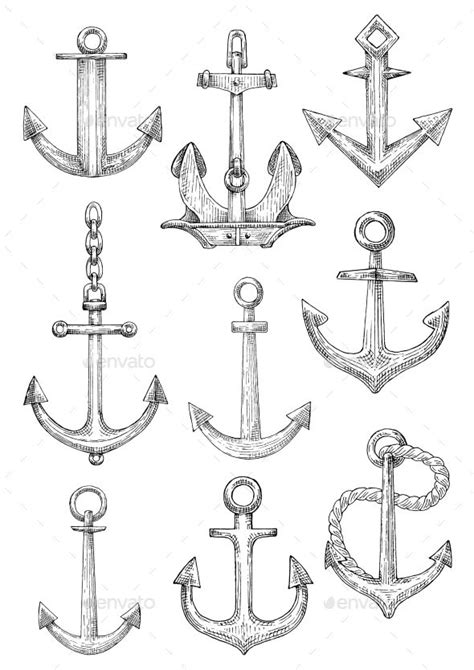42 best Anchor Tattoo Template images on Pinterest | Anchor tattoos, Navy anchor tattoos and Anchors