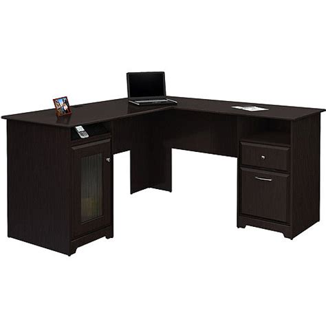 l shaped computer desk walmart wal mart coupons for bush cabot l shaped computer desk