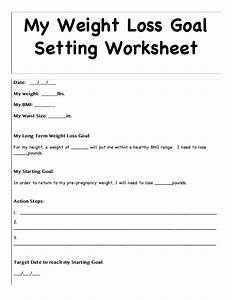 weight loss goal setting worksheet resultinfos With weight loss goals template