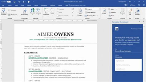 View My Resume On Linkedin by Microsoft Adds Linkedin Resume Assistant To Office 365