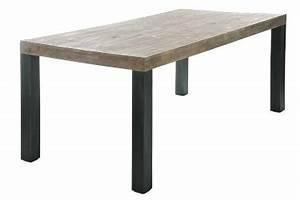 Table Bois Et Noir : table bois chez jolipa meubles et d coration jolipa ~ Dailycaller-alerts.com Idées de Décoration