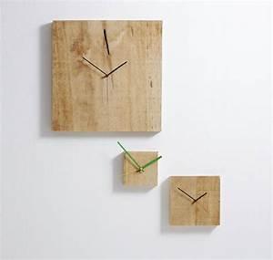Orologio da parete Grande Nature 48x3x48 cm con cassa in legno massello in ajus Diamantini e