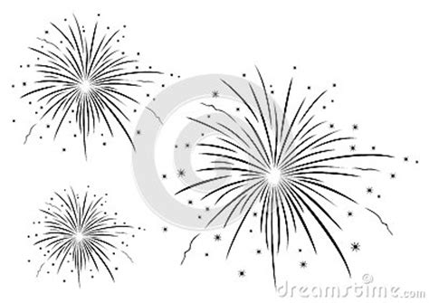 firework clipart black and white vector illustration of fireworks black and white stock