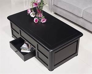 Table Basse Noir : table basse bar ine en merisier de style louis philippe laqu noir meuble en merisier massif ~ Teatrodelosmanantiales.com Idées de Décoration