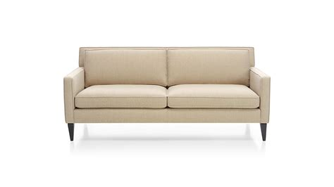 Apartment Size Sofa Dimensions by Rochelle Apartment Size Sofa Crate And Barrel