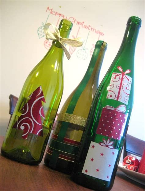 decorate wine bottle for christmas decoupage wine bottle craft mod podge rocks