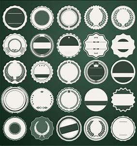 blank round labels vintage style vector free download With blank round sticker labels