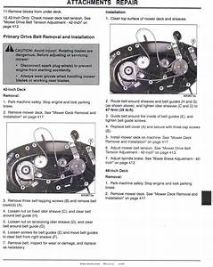 Deere L100 Lawn Mower Belt Came Off Need Diagram Of Pulley