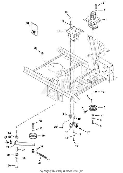 gravely    pmz hp kohler  deck hyd lift parts diagram