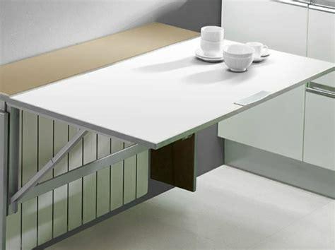 tablette rabattable cuisine table murale pour une cuisine plus sympa